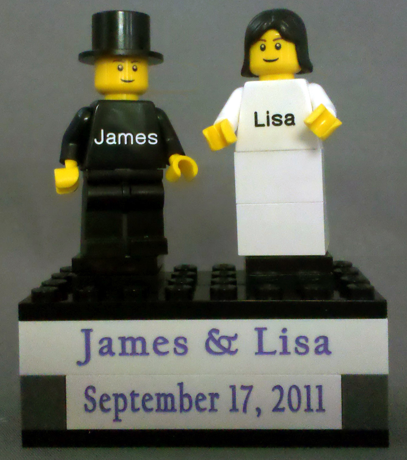 Lego Wedding Cake Topper The Original Brickengraverbrickprinter
