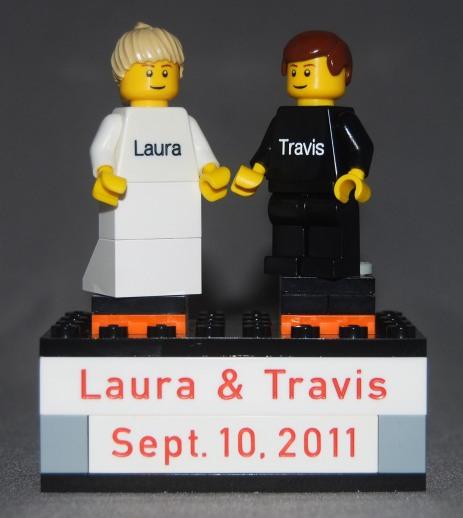 Laura & Travis Wedding Cake Topper