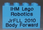Engraved Bricks for the Jr. FLL Team IHM Lego Robotics