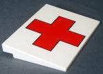 Medical Cross printed on a white slope for Jeff Brown of IndyLUG
