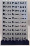 Micro Moonbase bricks for Ley Ward (1x8 Light Bley with black text)