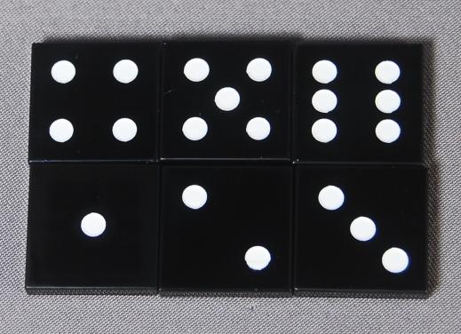 2x2 Black Dice Tiles